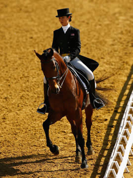 Lee Cheng Ni Diani of Malaysia riding Antschar in the Asian Games