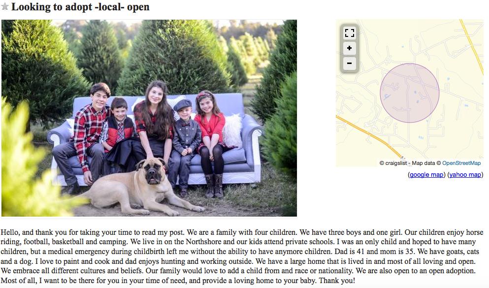 Craigslist – Lucy Sheen actor writer filmmaker adoptee