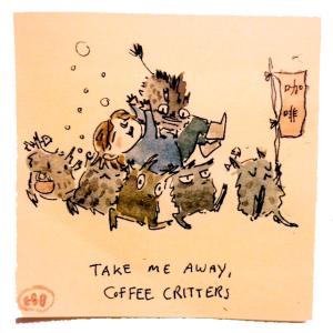 coffee critter postit
